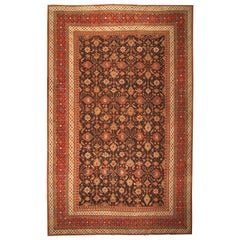 Antique Oriental Oversized Indian Agra Rug. Size: 15 ft 2 in x 23 ft 8 in