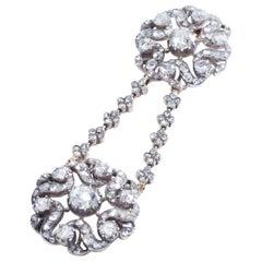 Antique Pendant Rose Cut Diamond Silver Gold