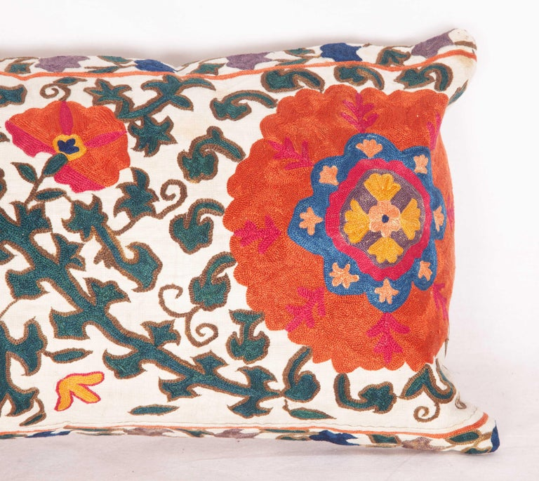 Antique Suzani Pillow Case Fashioned from a 19th Century Suzani from Uzbekistan In Good Condition For Sale In Istanbul, TR