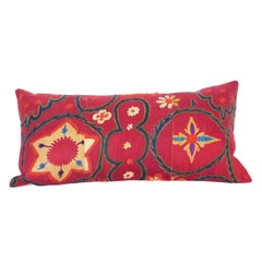 Antique Suzani Pillow Case Fashioned from a Late 19th Century Pishkent Suzani