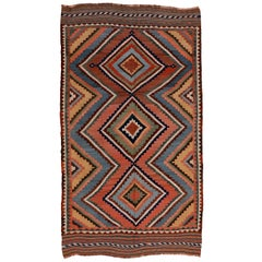 Antique Tribal Geometric Design Kilim Rug