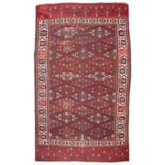 Antique Turkmen Yomud Tribe, Kepse Gul Design Main Rug, Mid-19th Century