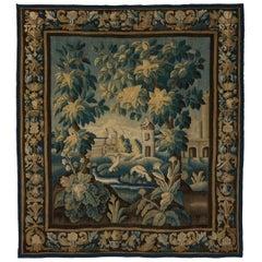 Antique Verdure Aubusson Tapestry with Birds