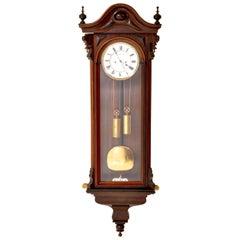 Antique Vienna Biedermeier 8-Day Regulator/Clock, Carl Suchy & Söhne, circa 1890