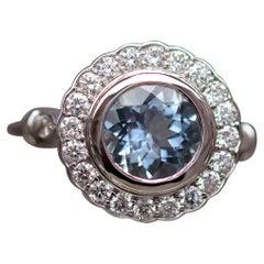 Aquamarine Diamond Cocktail Ring