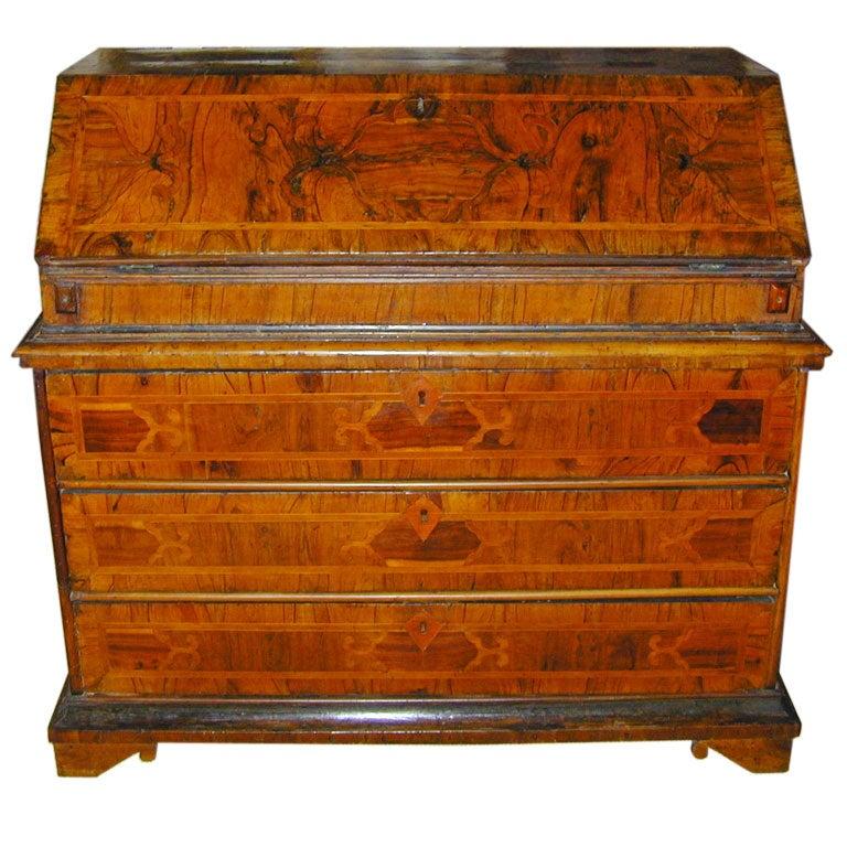 George Iii Mahogany Bureau Or Slant Front Desk Th Century