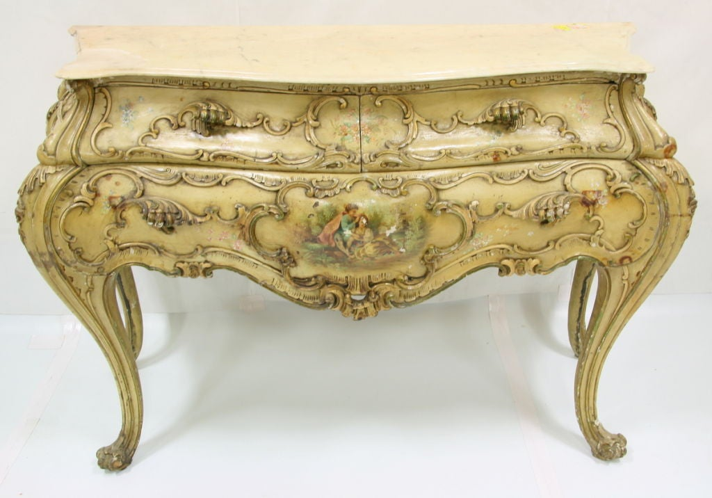 This S S Venetian Commode With Original Paint Is No Longer