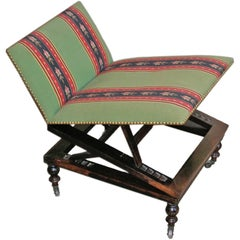 19th Century Adjustable Rosewood Gout Stool