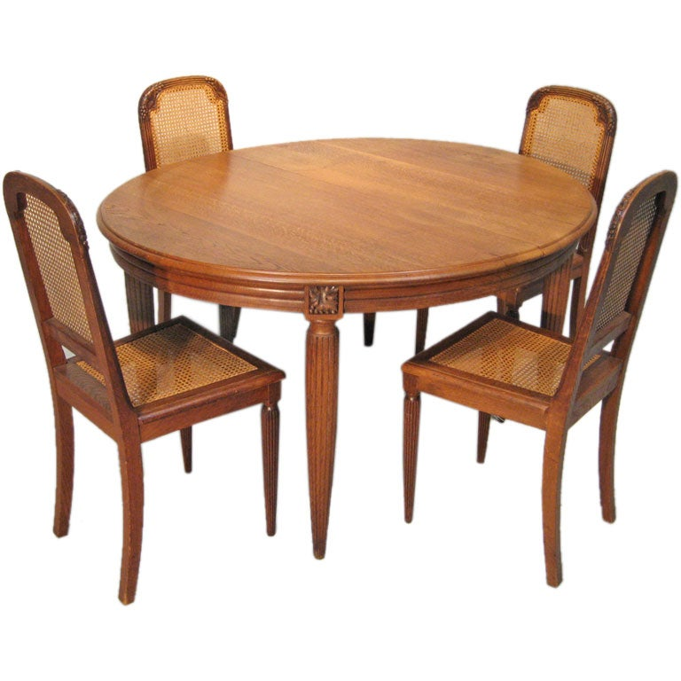 Art Deco Dining Table Ase Chairs Stdibs