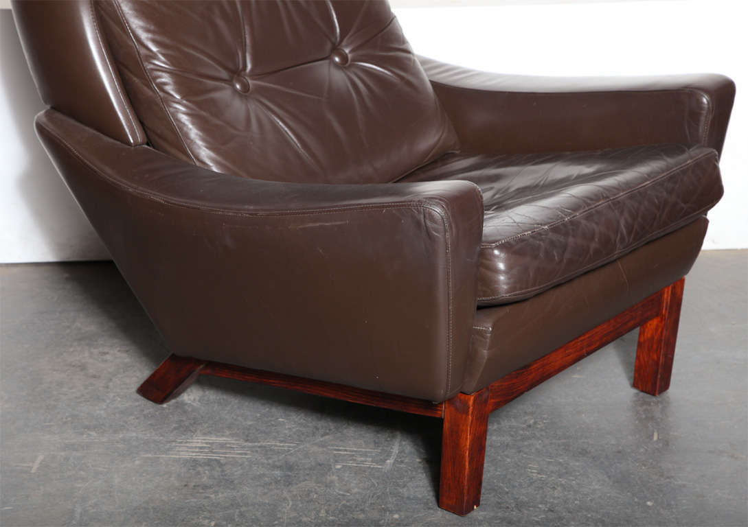 Modern brown leather chair