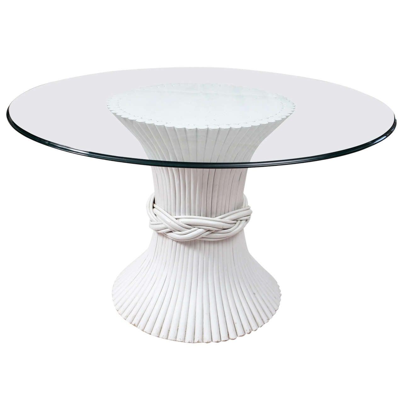 Glass top pedestal
