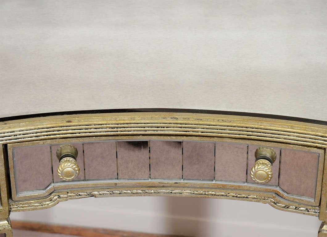 Vintage Mid Century Mirrored Desk Or Vanity Table At Stdibs