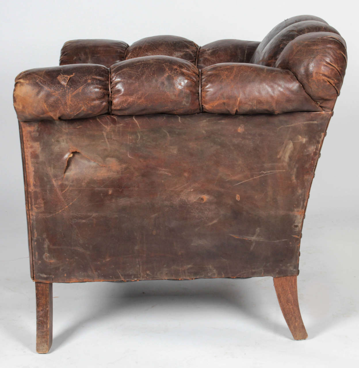 Distressed leather