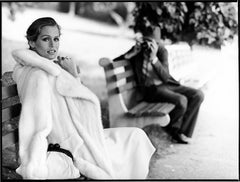 Lauren Hutton-fashion portrait of the supermodel together with the photographer