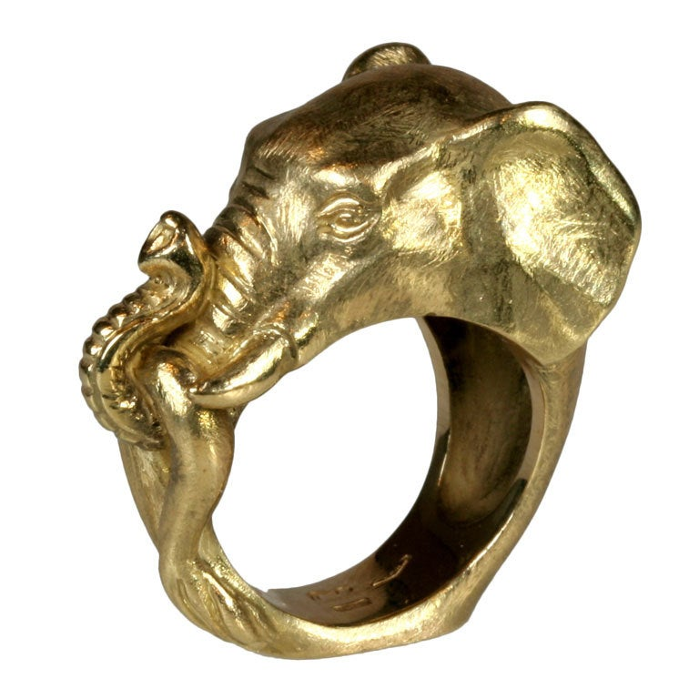 Kanners Gold Elephant Ring For Sale At Stdibs Gold Elephant Ring