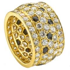 Cartier Black Onyx Diamond Panthere 5-Row Ring