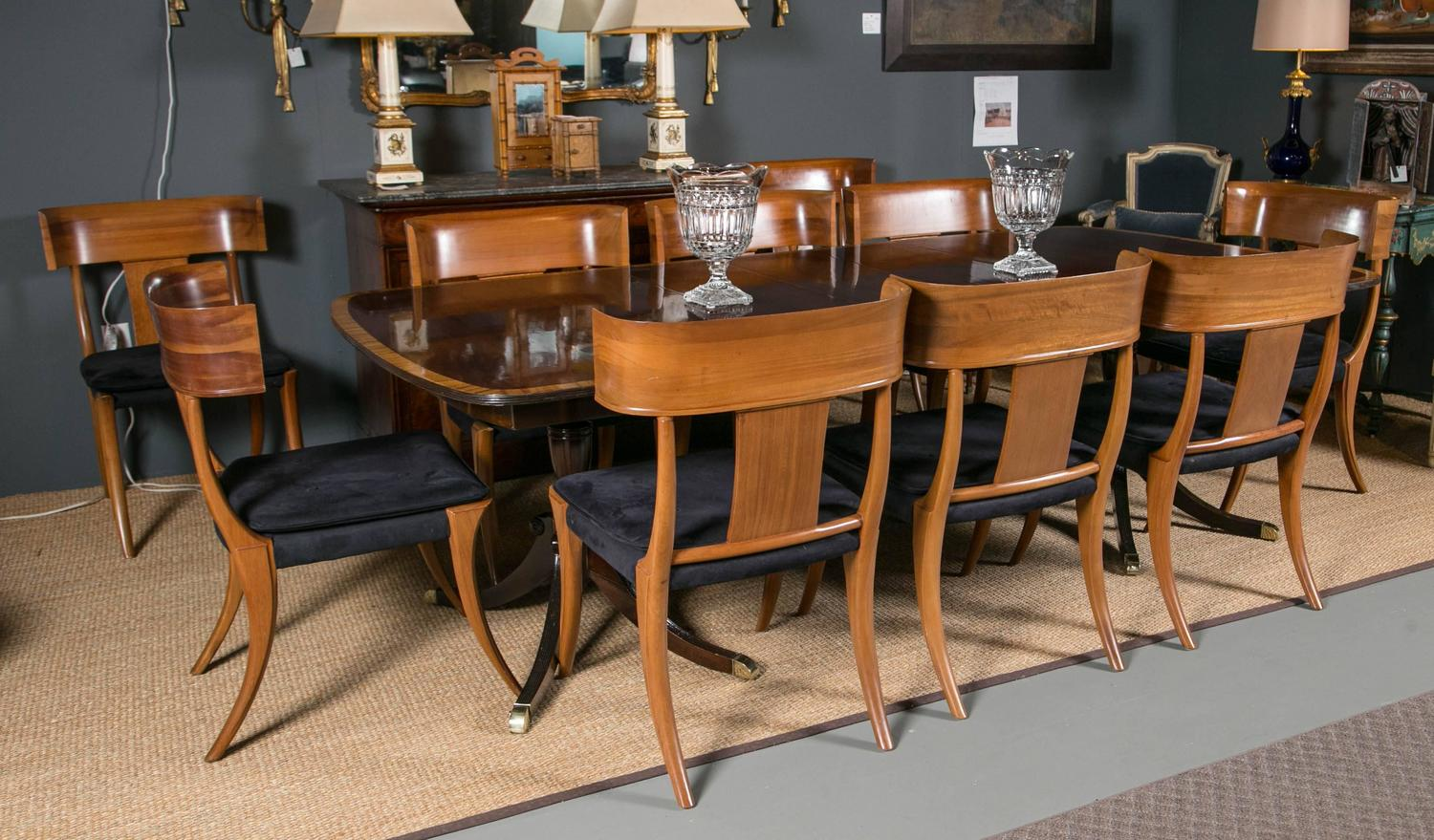 Double pedestal dining room tables