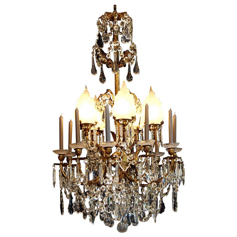 Th Century Large French Crystal Chandelier In The Empire Style At Stdibs