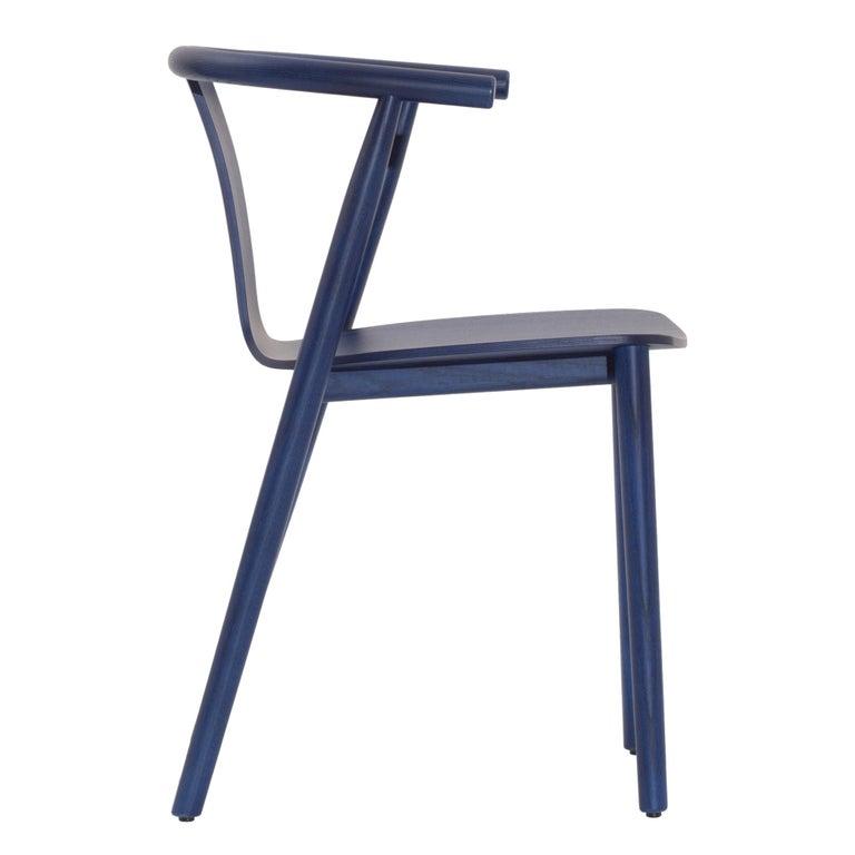 For Sale: Blue (118_BLUE SHANGHAI ANILINE ASH) Jasper Morrison Bac Stool in Solid Ashwood for Cappellini