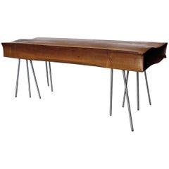 "Solid Wood Bench ""AERO"" Handmade in Organic Design"