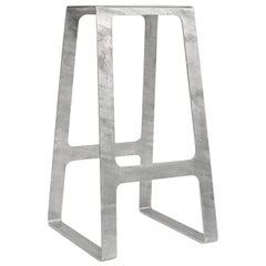 A_Stool in Galvanized Steel Bar Height Stool prototype by Jonathan Nesci