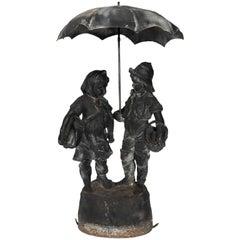 Lead Figurine Fountain by J.W. Fiske