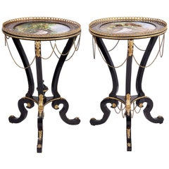 Pair of 19th Century Porcelain Side Tables