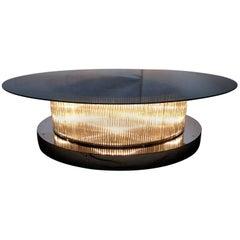 Monumental Italian Crystal Bars Coffee Table FINAL CLEARANCE SALE