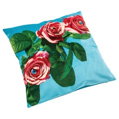 "Seletti Polyester Cushion by ""Toiletpaper"", Roses"