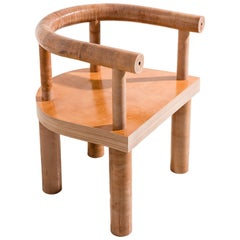 Limited Edition Stacked Leather Chair by Fort Standard, in Stock