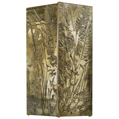 'Tropical Fossil III' Monumental Bronze and Brass Screen by Gianluca Pacchioni