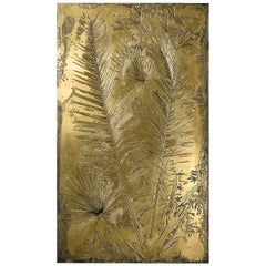 'Fossil I' Monumental Bronze and Brass Screen by Gianluca Pacchioni