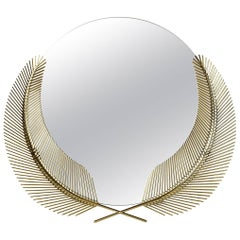 Ghidini 1961 Sunset Mirror Small in Polished Brass