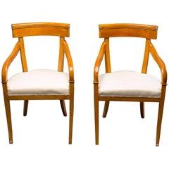 Pair of Biedermeier Style Armchairs