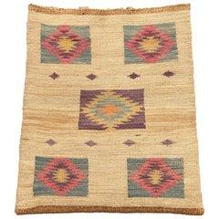 Antique Native American Woven Cornhusk Bag, Plateau, 19th Century