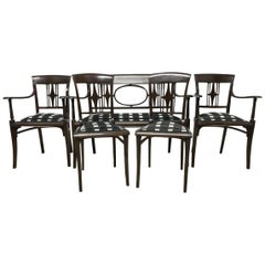 Joseph Hoffmann in the Style of a Secessionist Five-Piece Bentwood Salon Set
