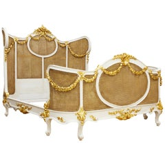 Floral Swag, a Louis XV Style Corbeille Canned Bed by La Maison London