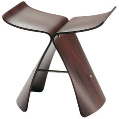 Vitra Butterfly Stool in Rosewood by Sori Yanagi