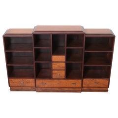 Art Deco Dynamique Creations Johnson Furniture Co. Skyscraper Bookcase Wall Unit