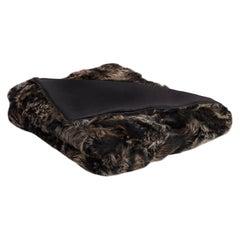 Luxury Fur Throw, with Silk Backing