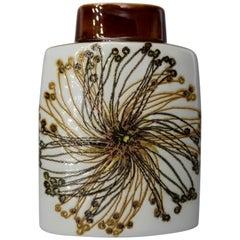Royal Copenhagen Aluminia Hand Decorated Faience Baca Vase by Malmer & Thorsson