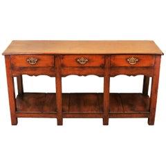 Oak 18th Century English Antique Dresser Base Sideboard