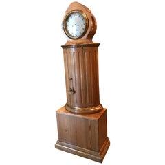 Early 19th Century Swedish Pine Clock, Grandmother / Grandfather