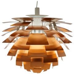 First Edition Copper Poul Henningsen Artichoke Lamp, Louis Poulsen, Denmark