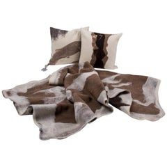 Hand-Milled Artisan Wool Pillows and Rustic Throw, Tahoe Collection