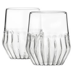 EU Clients Pair of Czech Contemporary Mixed Small Wine Cocktail Glasses in Stock