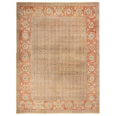 Large Antique Persian Tabriz Rug. Size: 12 ft 8 in x 17 ft 4 in