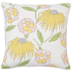 Schumacher Celerie Kemble Bouquet Toss Floral Two-Sided Linen Cotton Pillow