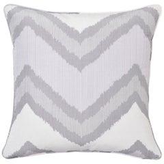 Schumacher Chevron Ikat Lilac Two-Sided Linen Pillow