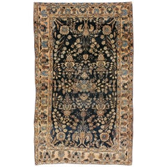 Vintage Persian Sarouk Mohajeran Rug